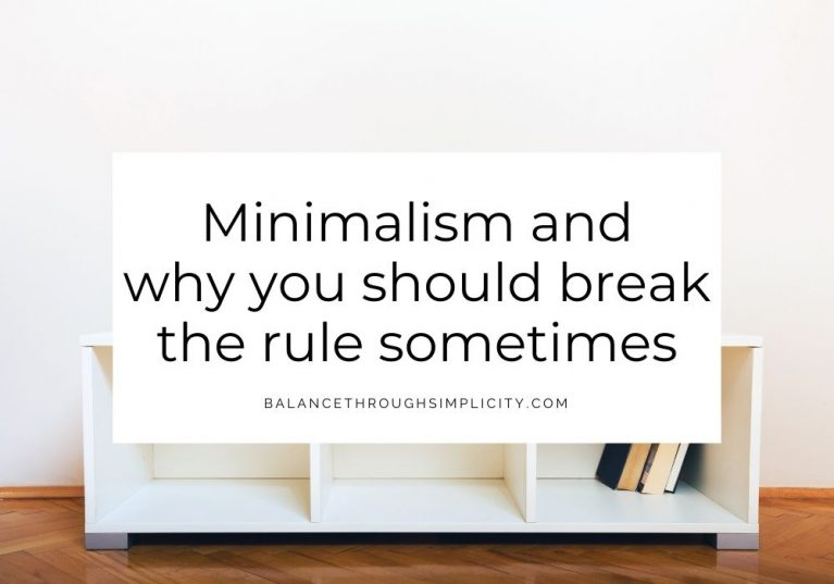 Minimalism and why you should break the rule sometimes