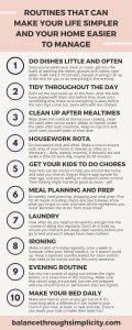 Routines That Can Make Your Life Easier And Your Home Easier To Manage