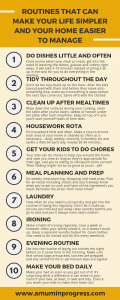 Routines than can make your life simpler and your home easier to manage