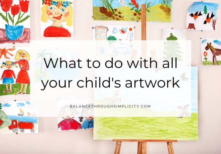 What to do with all your child's artwork