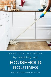 setting up household routines - pinterest
