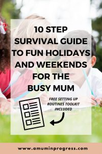 10 step survival guide to fun holidays and weekends for the busy Mum