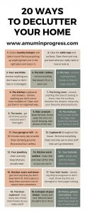 20 ways to declutter your home infographic