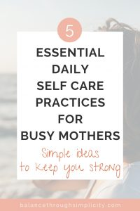 Daily self-care ideas for mums