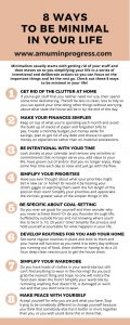 8 ways to be minimal in your life