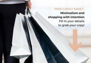 Minimalism and shopping cheat sheet