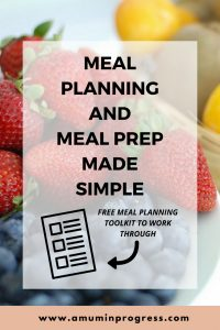 Meal planning and meal prep made simple