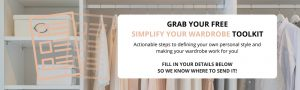 Simplify your wardrobe toolkit banner