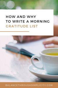How to write a morning gratitude list