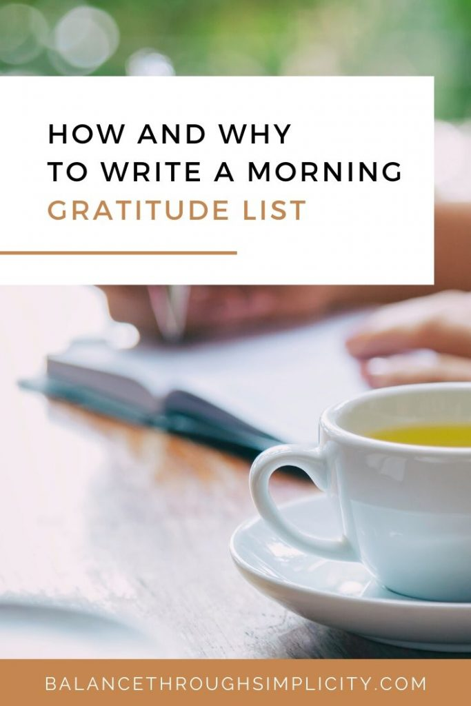 How to write a morning gratitude list