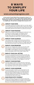List of 8 ways to simplify your life