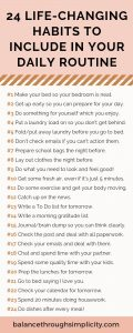 24 Life Changing Habits For Your Daily Routine