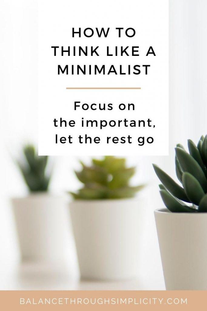 Minimalist mindset