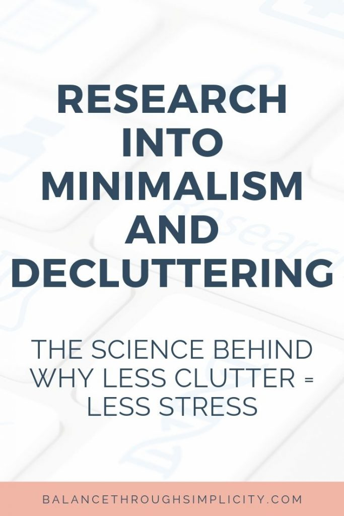 Research Into Minimalism And Decluttering