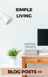 Simple living blog posts