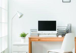 Minimalist home office area