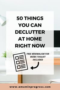 50 things you can declutter at home right now
