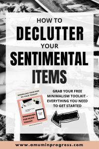 How to declutter your sentimental items