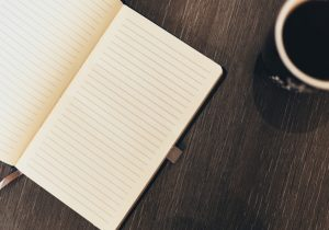 Notebook for brain dump to declutter your mind