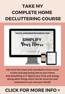 Take my complete decluttering course Simplify Your Home