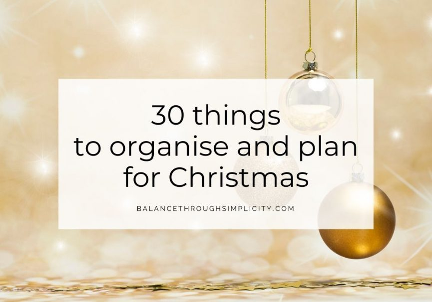 30 things to organise and plan for Christmas