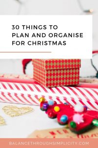 30 things to plan and organise for Christmas