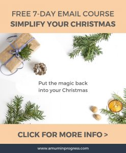 Simplify Your Christmas course