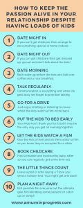 How to keep the passion alive in your relationship despite having loads of kids infographic