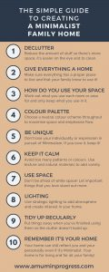 The simple guide to creating a minimalist family home infographic