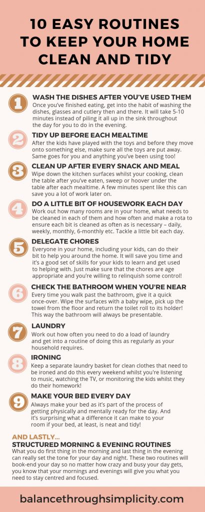 10 Easy Routines To Keep The Home Clean And Tidy