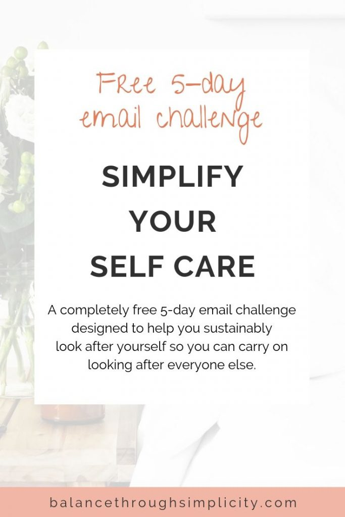Simplify Your Self Care Challenge