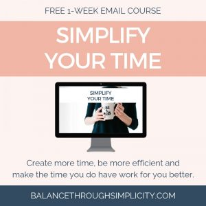 Simplify Your Time Free Course