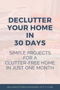 Declutter Your Home In 30 Days