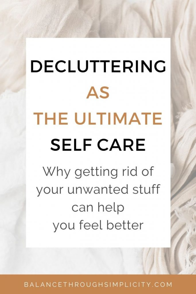 Decluttering as self care