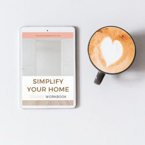 Simplify Your Home Workbook