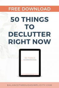 50 things to declutter right now