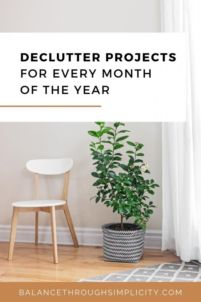 Declutter projects for every month of the year