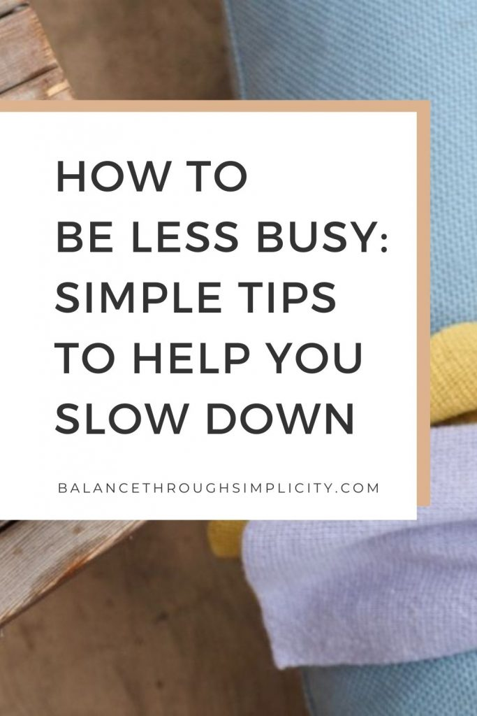 How to be less busy