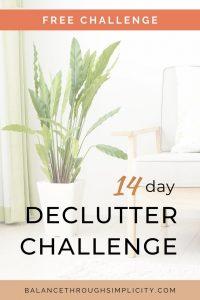 14-day declutter challenge