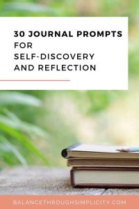 30 journal prompts for self-discovery