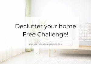 Declutter challenge