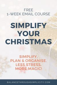 Simplify Your Christmas free course