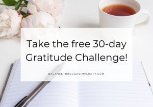 Take the free 30 day gratitude challenge