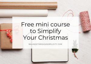 Free mini course to Simplify Your Christmas