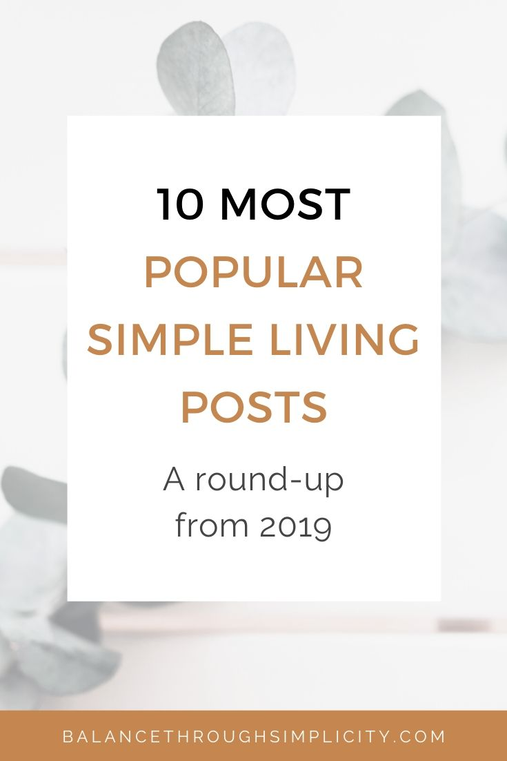 10 most popular simple living posts from 2019