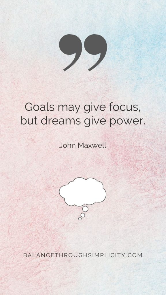Goals may give focus
