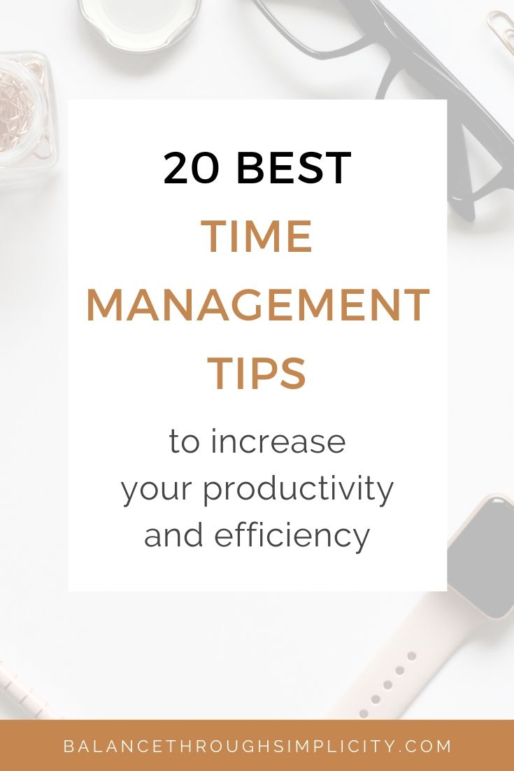 20 best time management tips