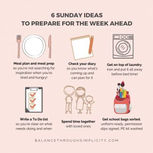 things to do on Sunday to prepare for the week ahead