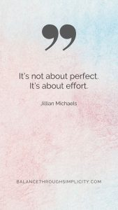 Its not about perfect