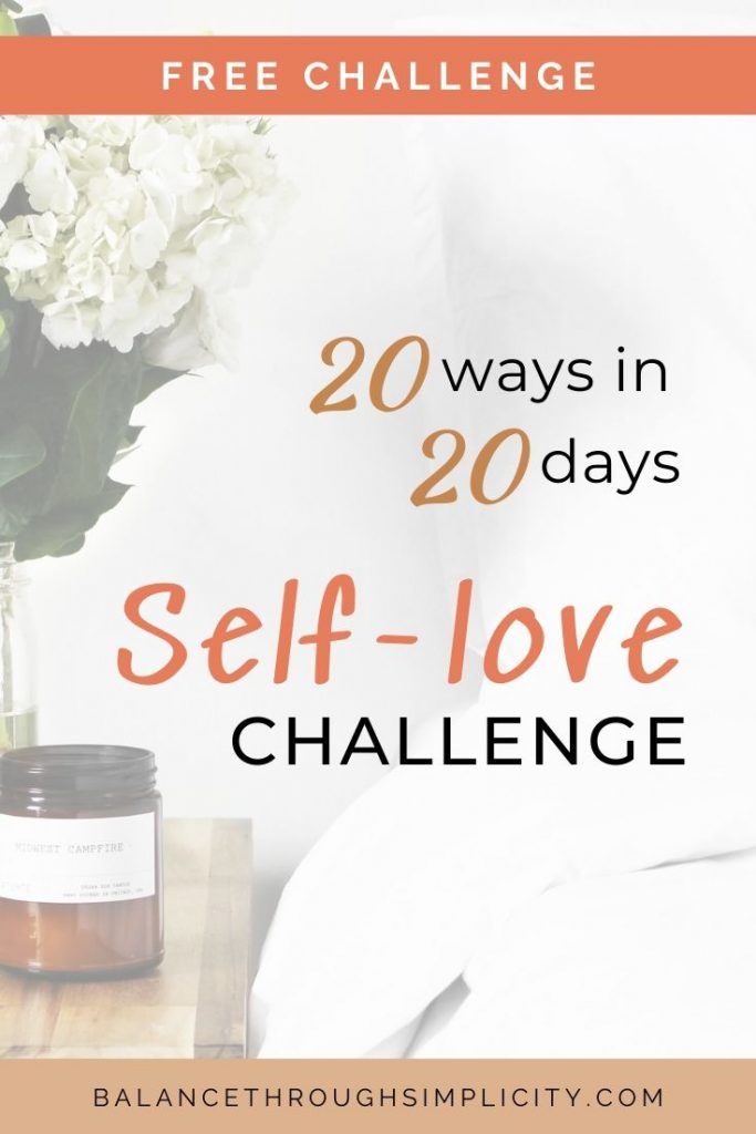 20 ways in 20 days self-love challenge